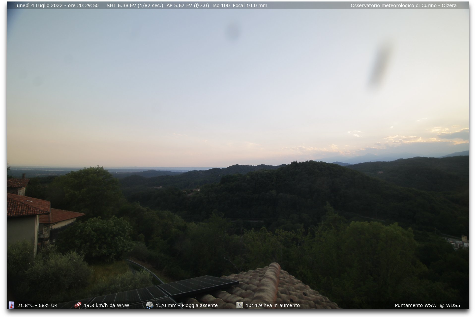 Webcam Meteo con fotocamera REFLEX